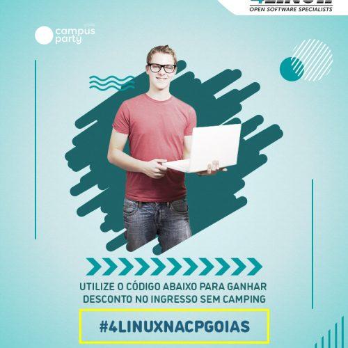 A 4Linux estará presente na Campus Party Goiás e você ganha desconto para comparecer ao evento!