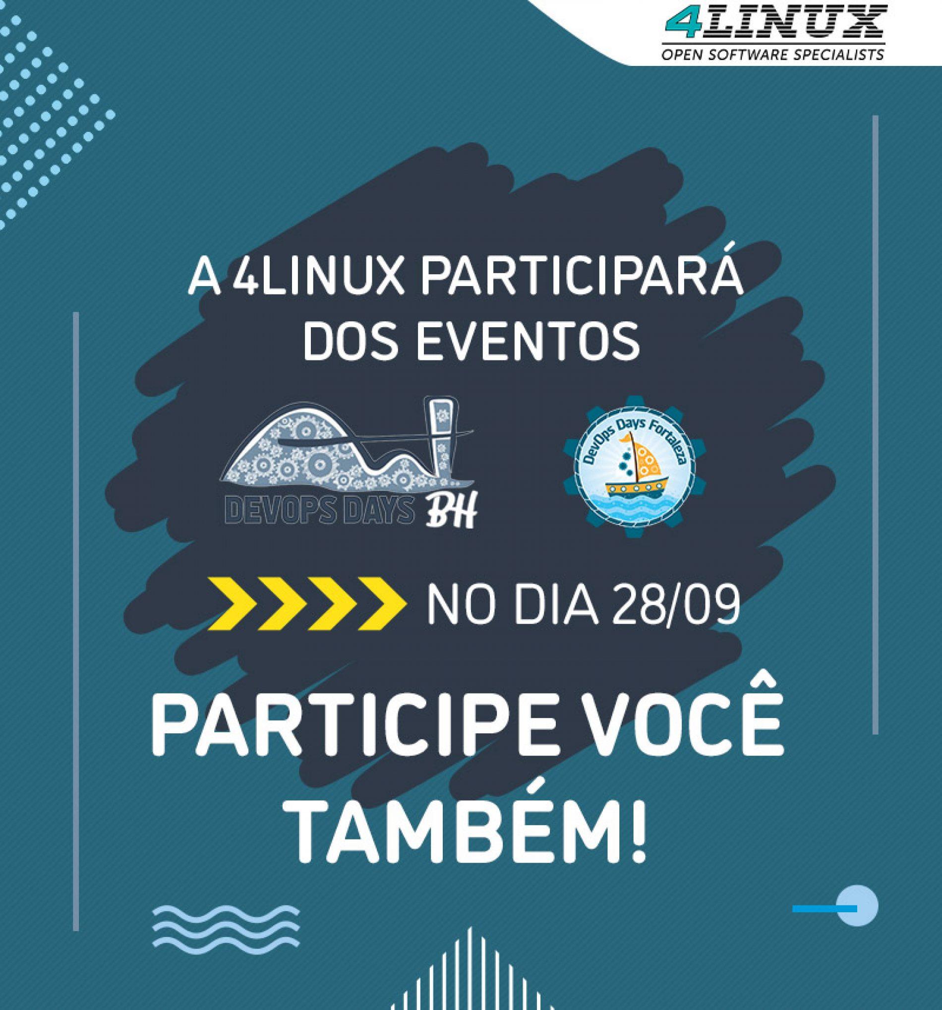 DevOpsDays Fortaleza e Belo Horizonte.