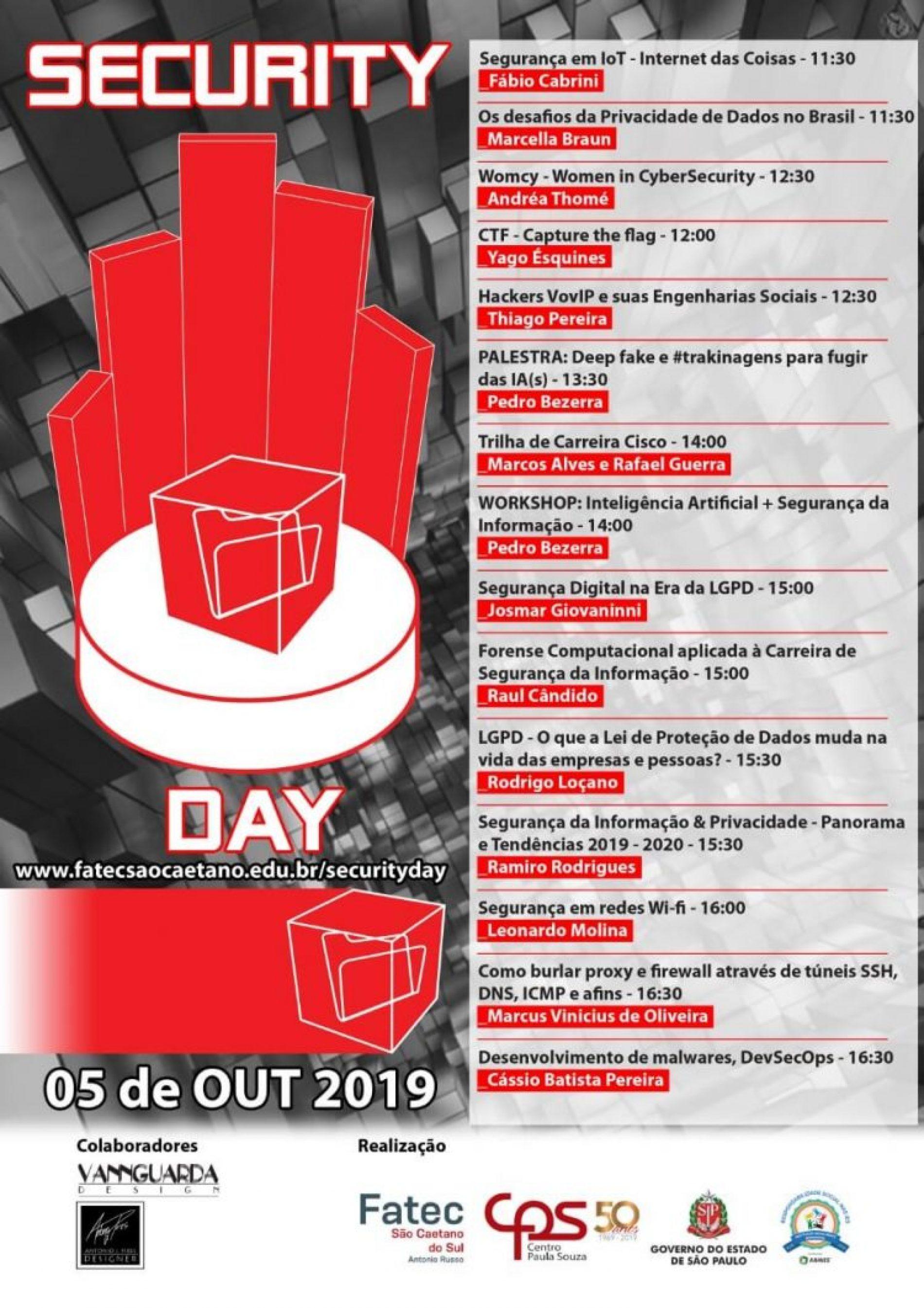 4Linux participará do 8º Security Day promovido pela Fatec Antonio Russo